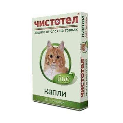 Капли Чистотел: Био капли (1пип) от блох репеллент для кошек