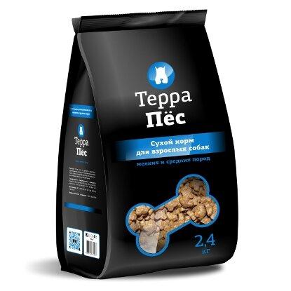 Сухой корм Терра Пес для собак мелких и средних пород (2.4кг)