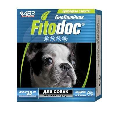 БиоОшейник АВЗ Фитодок от блох клещей (3мес) для мелких собак 35см