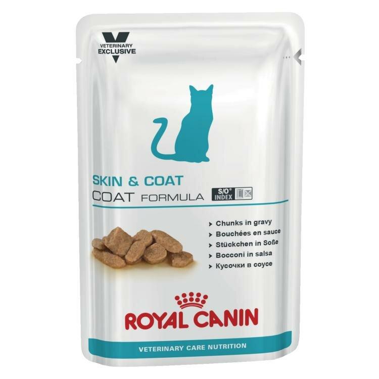Влажный корм RC Skin & coat formula для стерилизованных кошек диета с повышенной чувствительностью кожи, 100 г