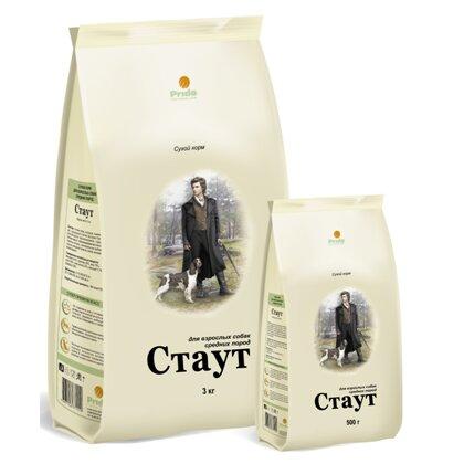 Сухой корм Стаут для собак средних пород, цыплёнок+говядина (3 кг)