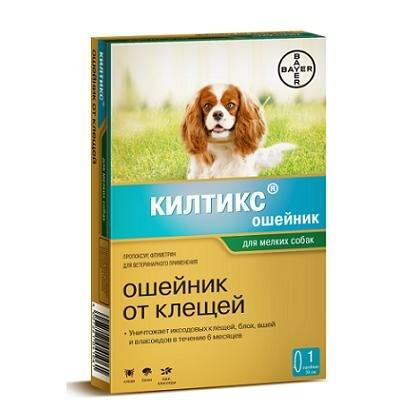 """Ошейник """"Kiltix"""" от блох и клещей (6 мес), для мелких собак, 38 см"""