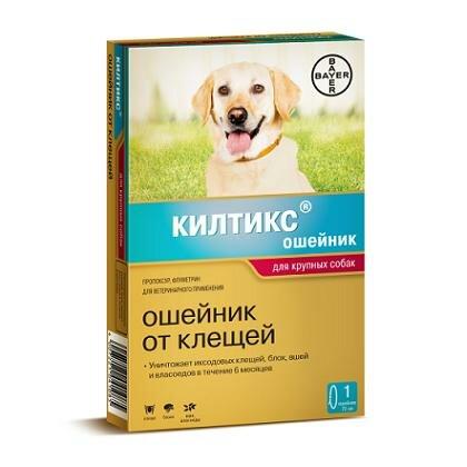 """Ошейник """"Kiltix"""" от блох и клещей (6мес), для крупных собак, 70см"""