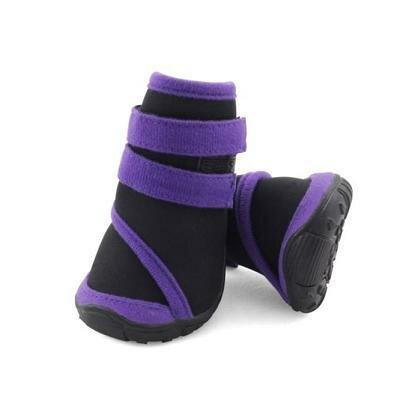 Ботинки Triol мягкие для собак M неопрен на липучках фиолетовые