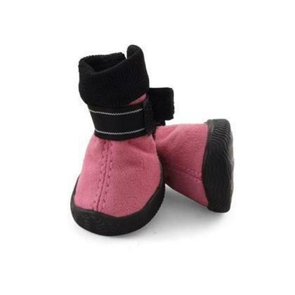Ботинки Triol мягкие для собак замша на липучках розовые 4
