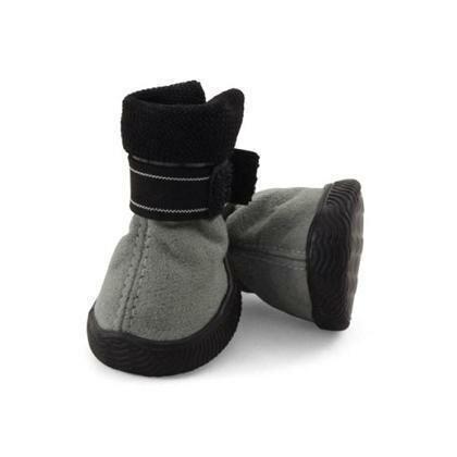 Ботинки Triol мягкие для собак замша на липучках серые 5