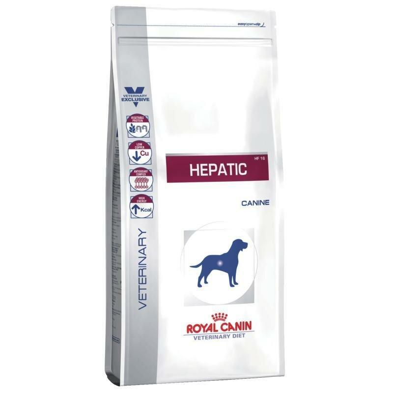 Сухой корм Royal Canin Hepatic HF16 для собак при заболеваниях печени, 12 кг