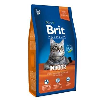 Сухой корм Brit Premium Сat Indoor для кошек живущих в помещении, курица и печень 1.5кг