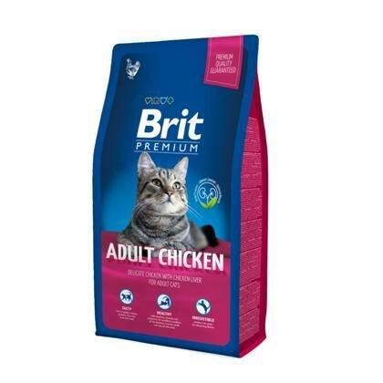 Сухой корм Brit Premium Сat Adult Chicken курица+печень для кошек, 800г