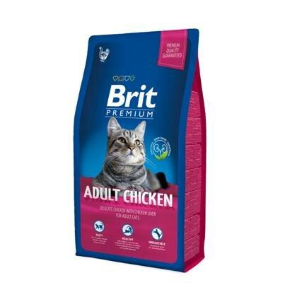 Сухой корм Brit Premium Сat аdult Chicken курица+печень для кошек, 8кг