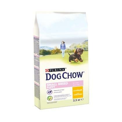Сухой корм Dog Chow Puppy для щенков мелких пород курица, 2.5кг