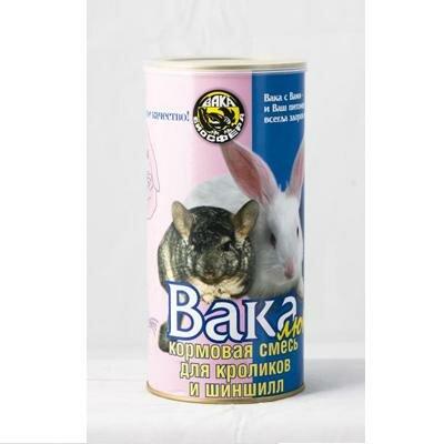 Корм Вака  для шиншилл и кроликов (800г)