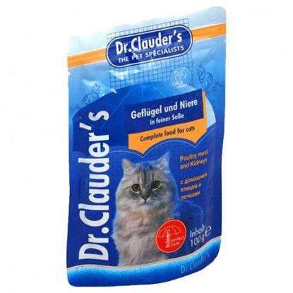 Влажный корм Dr.Clauder's для кошек кролик+печень (100 гр)