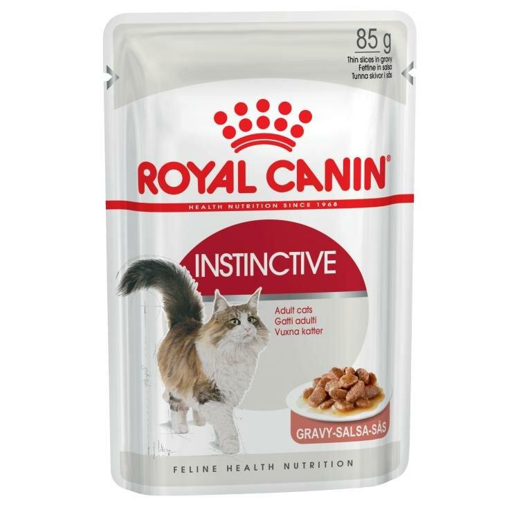 Влажный корм RC Instinctive для кошек (для взрослых от 1 года) кусочки в соусе (85 гр)